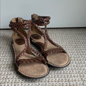 Brown leather B.O.C. Sandals